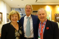 Professor Valerie Lund (Semon Lecturer 2012), Professor David Howard (previous President of the British Laryngological Association), Mr John Watkinson (previous Chairman of the Semon Committee)